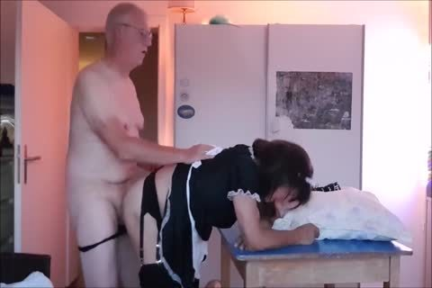 Maid Sissy Cleans house Sucks ramrod gets poked