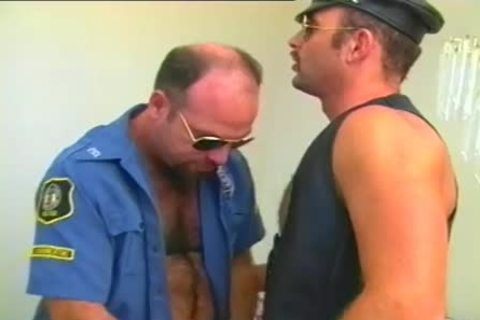 tasty Cop Has A Fetish For Leather And Hard cocks