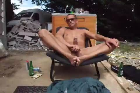 beer, jerking off, smoking, at work