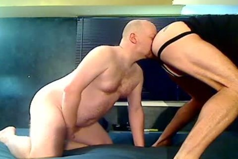 Two Stocky Bald Bears Eat booty and Breed